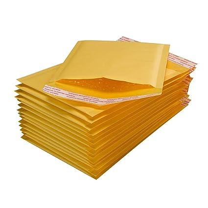 Ogquaton 10x Bubble Mailers Sobres Acolchados Embalaje Bolsas de envío Kraft Bubble Mailing Envelope Bags 140 * 160mm