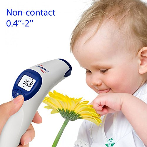 Medical Forehead Thermometer, SENQIAO Jumper Infrared Baby Thermometer Object, Digital Non Contact Temperature,FDA Approved for Baby, Toddlers, Pregnant Women,Christmas gift by SENQIAO (Image #2)
