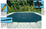 Arctic Armor Mesh Rectangular Safety Cover for 12ft x 24ft In-Ground Pools with 12-Year Warranty Color: Green (WS305G)
