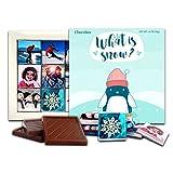 DA CHOCOLATE Candy Souvenir SNOW Christmas Chocolate Gift Set 5x5in 1 box (Penguin)