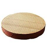 Round Wood Tree Soft Plush Chair Seat Cushion Stump Shaped Pillow 11.8x1.6inch