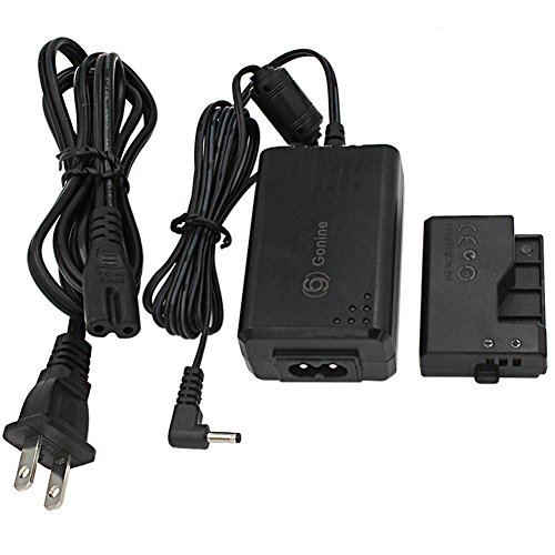 Gonine ACK-E10 AC Power Adapter ACK E10 and DR-E10 DC coupler Kit (Replacement for LP-E10) for Canon EOS Rebel T3, T5,T6, Kiss X50, Kiss X70, EOS 1100D, EOS 1200D, EOS 1300D Digital Cameras.