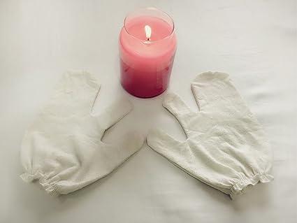 garshana guantes, guantes de masaje Seda Seco del Ayurveda ...