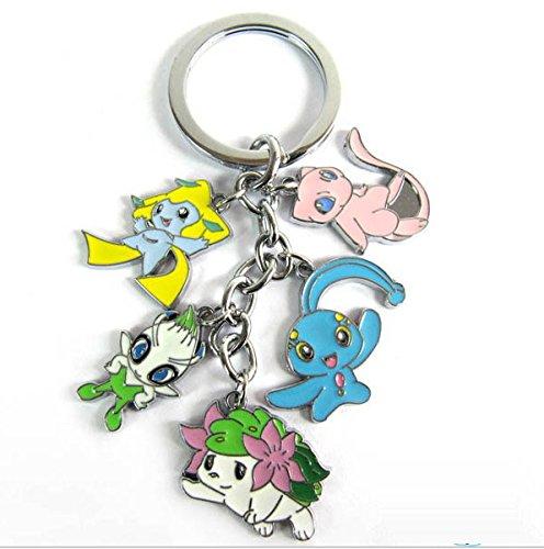 Pokemon Pikachu mew shaymin keyring keychain key chain #H (Pokemon Keychain Plush)