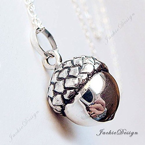 Amazon 17mm acorn lucky harmony ball sterling silver bola 17mm acorn lucky harmony ball sterling silver bola pregnancy necklace 36quot chain ls69 aloadofball Image collections