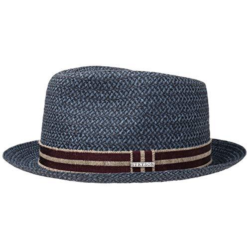 Stetson Fritch Fedora Hemp Hat Women/Men Blue XL (7 1/2-7 5/8)