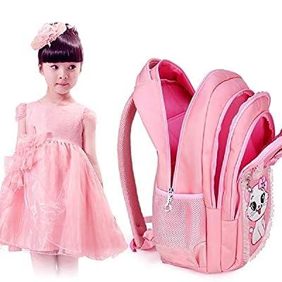 JIUFENG 3 Pcs Girls Princess Backpack Korean Cute Schoolbag + Shoulder Bag + Stationery Bag: Clothing