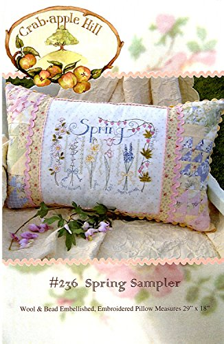 (Spring Sampler Embroidery Pattern by Meg Hawkey From Crabapple Hill Studio #236)
