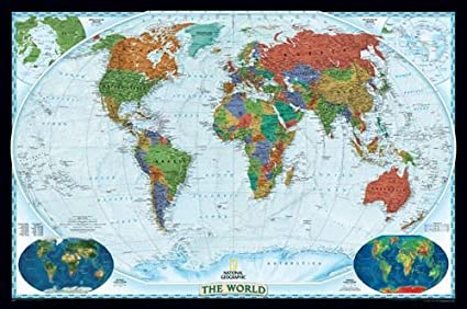 Amazon world decorator map paper tubed 30h x 46w office world decorator map paper tubed 30quot gumiabroncs