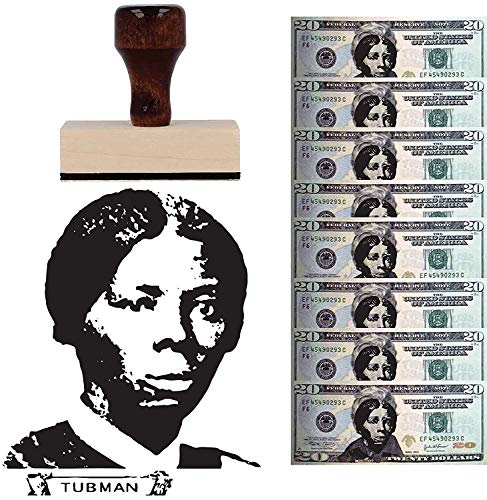 Harriet Tubman Rubber Stamp- Square Self Inking or Wooden Handle Stamp Self Inking Wood Personalized Stamper Family Stamp Custom Block Rubber Stamp
