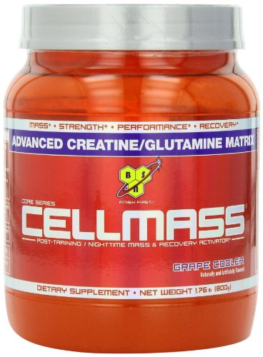 BSN Cellmass Creatine Post-Training NightTime Mass and Recovery Activator, GrapeCooler, 1.76  Pound, Health Care Stuffs