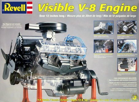 Airplane Motorized (Revell 85-8883 1/4 Visible V-8 Engine Plastic Model Kit, 12-Inch)