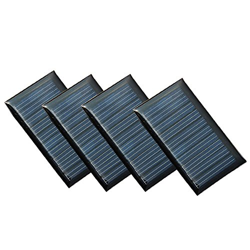 Set of 4 Pieces NUZAMAS 5V 30mA 53X30mm Micro Mini Solar Panel Cells For Solar Power Energy, DIY Home, Science Projects – Toys – 3.6v Battery Charger For Sale