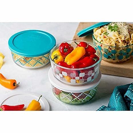 High Quality Pyrex 8 Piece Decorative Glass Food Storage Set
