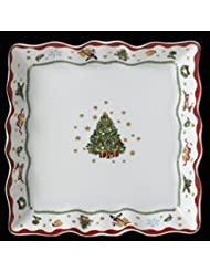 Prouna My Noel Christmas Holiday Collection Large Square Serving Platter