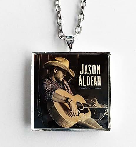 Rearview Town Jason Aldean: Amazon.com: Album Cover Art Necklace