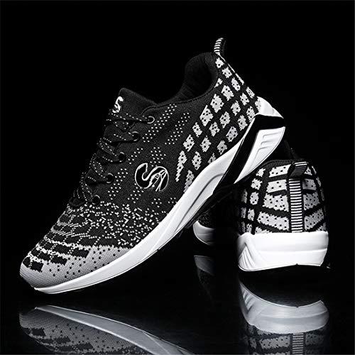 Aire SEVENWELL Trail Libre con Zapatos Sneakers Caminar Fácil para Deportivos Casual Estilo Hombre Correr Al Zapatos Negro Transpirable Athletic para PfAPpwq
