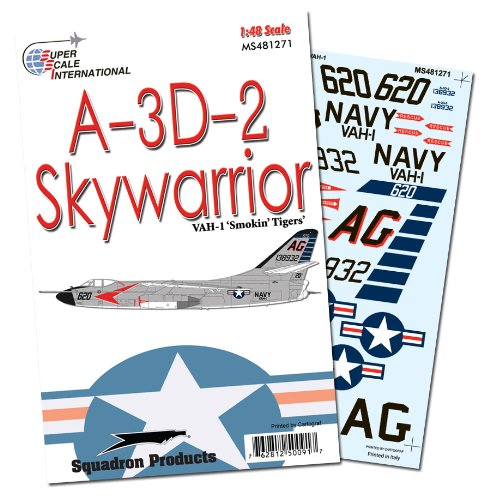 Superscale USA A-3D-2 of VAH-1 Smokin Tigers Decals