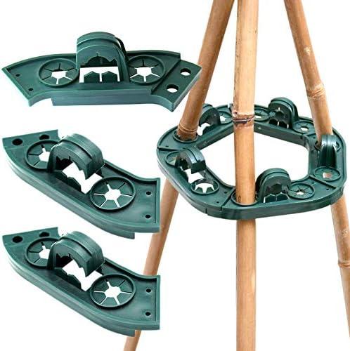 10 x caña de segmentos – agarre soporte planta apoyo Wigwam agarre ...