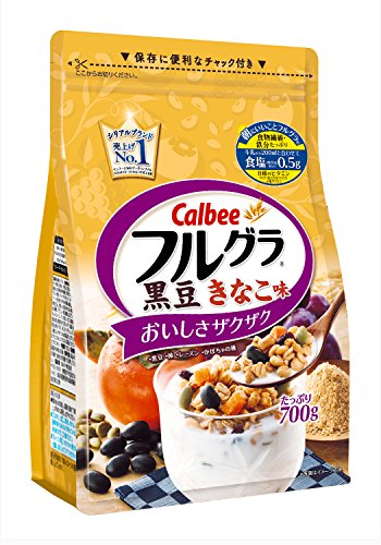 Calbee Fruit Granola Black Bean & Kinako Taste 700g by Furugura