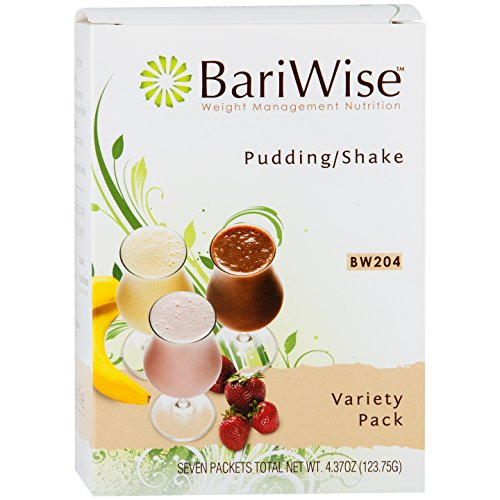 BariWise High Protein Shake/Low-Carb Diet Pudding & Shake Mix - Variety Pack (7 Servings/Box) - Gluten Free, Low Fat, Low Carb