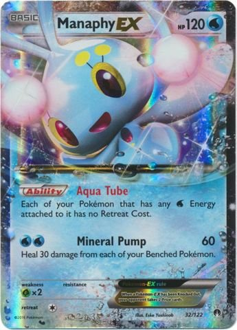 44438de5e3594 Amazon.com: Pokemon - Manaphy-EX (32/122) - XY Breakpoint - Holo: Toys &  Games