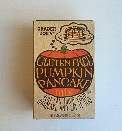 Trader Joe's Gluten Free Pumpkin Pancake Mix & TJ's Pumpkin Butter a TJ's Reusable Southern California Grocery Tote Plus A Bonus Free Organic Sweet Coffee Recipe from Z-Organics Bundle (4items)