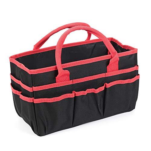 Jjring Fundamental Organizer 600D Nylon Artist Tote Bag, Red Edge