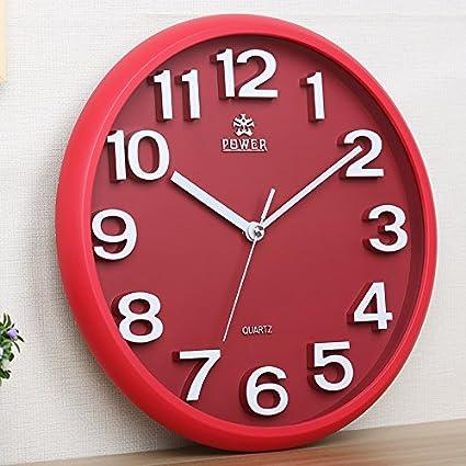 Amazon.com: Y-Hui 3D Clocks Living Room Silent Clock Children\'S ...