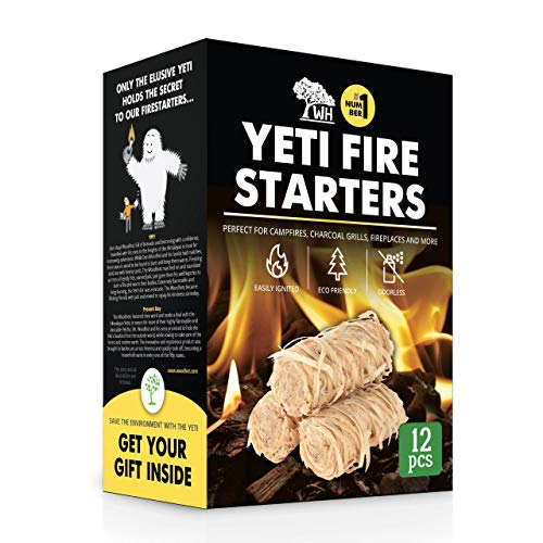 - WOODHOT FIRE Starters Natural Tumbleweeds | 12 pcs | - YETI Wood fire Starter for Fireplace, Campfire, Wood Stove, fire Pit, Charcoal Grill, Barbecue Smoker, BBQ