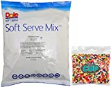 Dole Soft Serve Mix - Lime Dole Whip, Lactose-Free Soft Serve Ice Cream Mix, 4.40 Pound Bag - with By The Cup Rainbow Sprinkles
