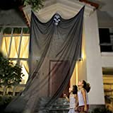 Peyan Halloween Hanging Skeleton Flying Ghost Decorations for Outdoor Indoor Party Bar Scary Props 10.8ft(3.3m) Long