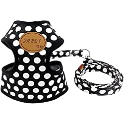 SMALLLEE_LUCKY_STORE Soft Mesh Nylon Vest Pet Harness, Black, Medium