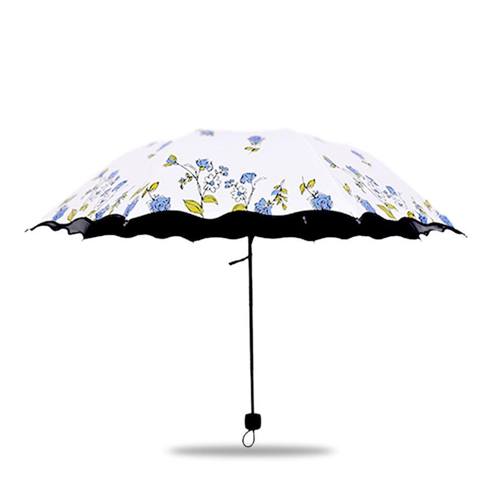 Parapluies homme femmes Ombrelle Parasol umbrella venteux pluie en /ét/é Bleu Parapluie Pliant Femme Rose Preuve dUV 8 des os 210T UPF50