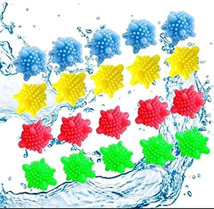colores aleatorios 6 cm 12 piezas Bola de lavado Bola de lavado para lavadora Bola de lavander/ía Bolas de pl/ástico para secadora Bola de secadora reutilizable Bola de secado de colores s/ólidos