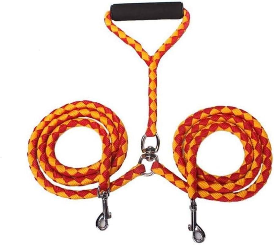 WXG Cinturón de tracción de Tejido Nylon bidireccional de Doble Tejido con Mango Acolchado, Dorado, L