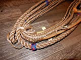 EPT Bull Rope Bull Ropes - Tan/Blk - Custom PRO 9x7 LH Bull Riding Rope