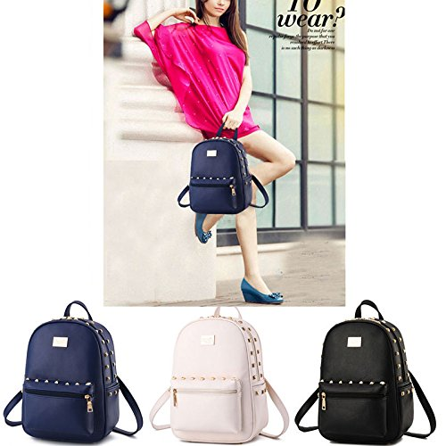 Print Girl Casual PU School Bags Leather Flower Women Col4 Col10 Small Donalworld Backpacks OnUXXB