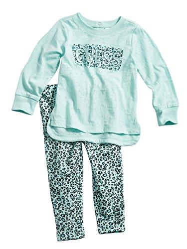 GUESS Kids Baby Girl Burnout Tee and Leggings Set (12-24M)