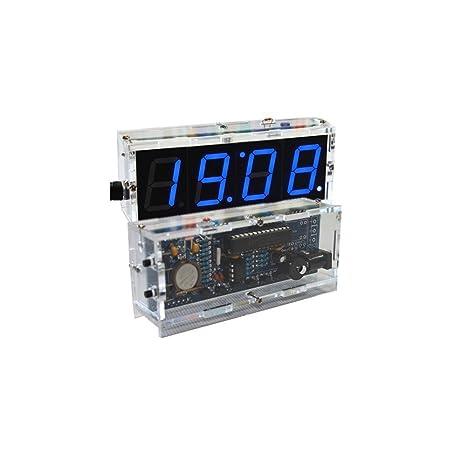 KKmoon Kit de montaje de reloj led digital con 4dígitos, luz