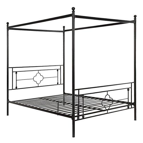 Homelegance Hosta Metal Canopy Bed Queen Black
