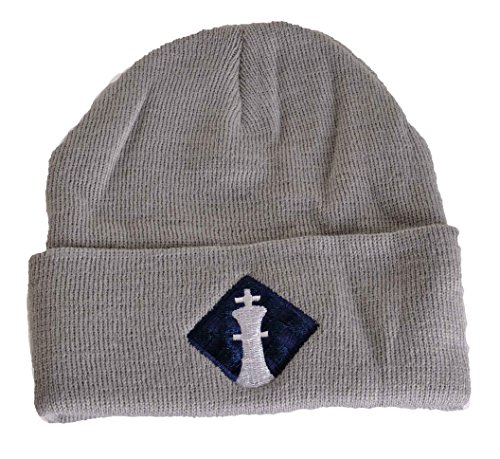 Uscf Logo Knit Cap   By Us Chess Federation  Gray