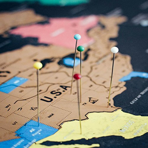 Scratch off world map travel tracker poster w us states scratch off world map travel tracker poster gumiabroncs Images