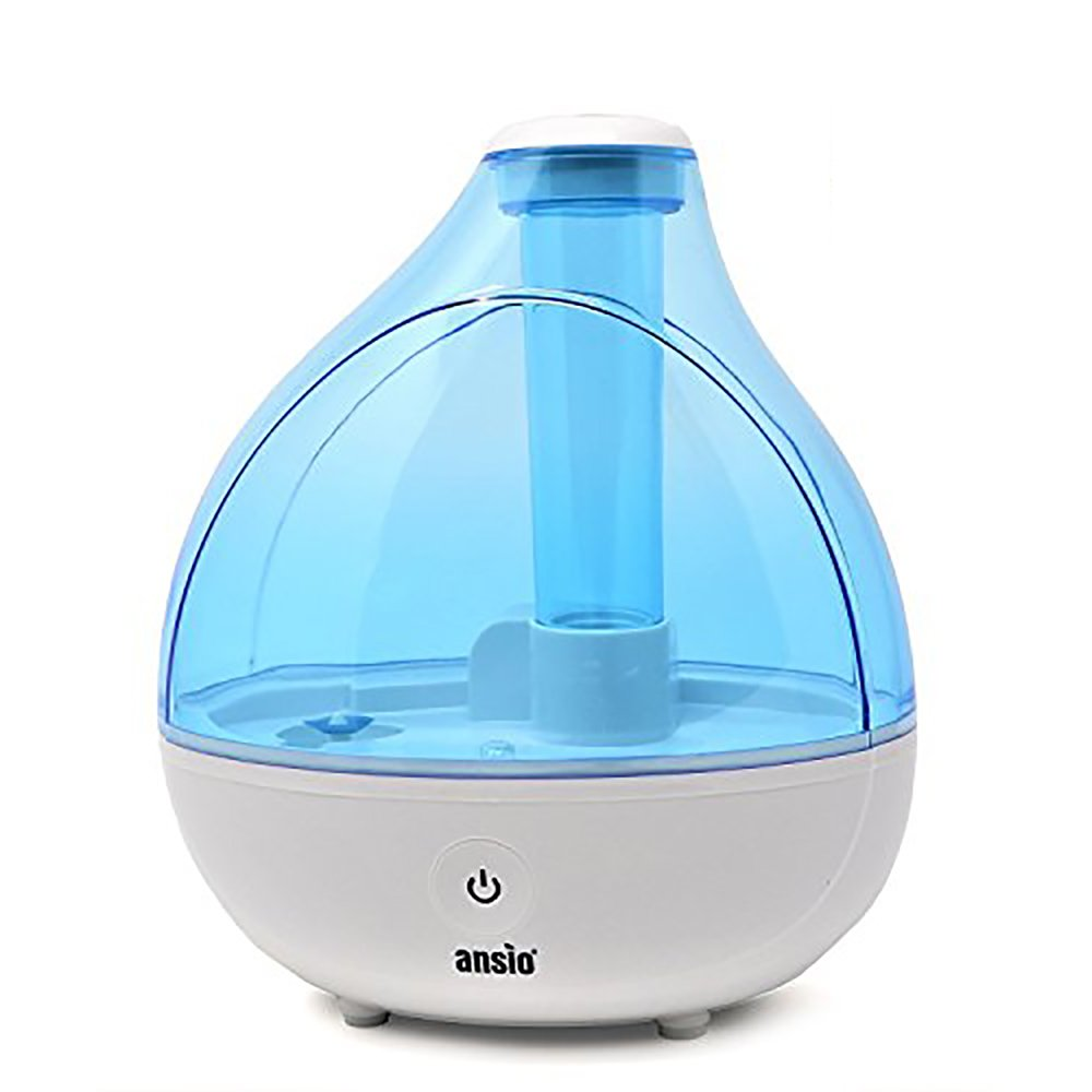 Ultrasonic Cool Mist Humidifier 1500 ml, with Up to 16 Hours Continuous Use - Humidifiers for Home, Yoga, Office, Bedroom- Replacement Guaranteed [NOT an Aroma Diffuser] ANSIO ANSIO 94352