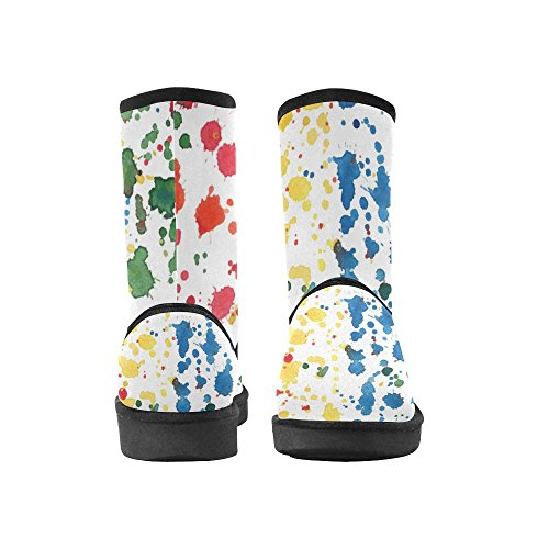 Boots Ethnic 5 InterestPrint Doodle Womens Pattern Color4 5 Print Ladies 12 Tribal Circles Floral Classic colorful Size Snow SSI0Z