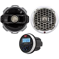 (2) Rockford Fosgate Punch PM262 6 150w Marine/Boat Speakers+Bluetooth Receiver