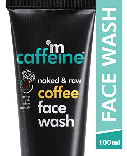 mCaffeine Naked & Raw Coffee Face Wash, 100 ml | White Water Lily | Deep Cleanser | Oily/Normal Skin | Paraben & SLS…