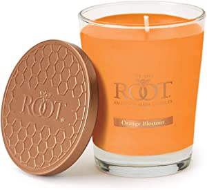 Root Candles Honeycomb Veriglass Scented Beeswax Blend Candle, Large, Orange Blossom