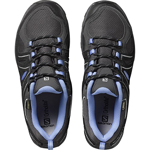 Salomon Women's Ellipse 2 GTX W Low Rise Hiking Shoes, Black, 3.5-4 Grey (Asphalt/Black/Petunia Blue 000)