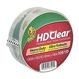 Duck HD Clear Heavy Duty Packing Tape Refill, 1.88